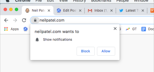 show notifications prompt in chrome