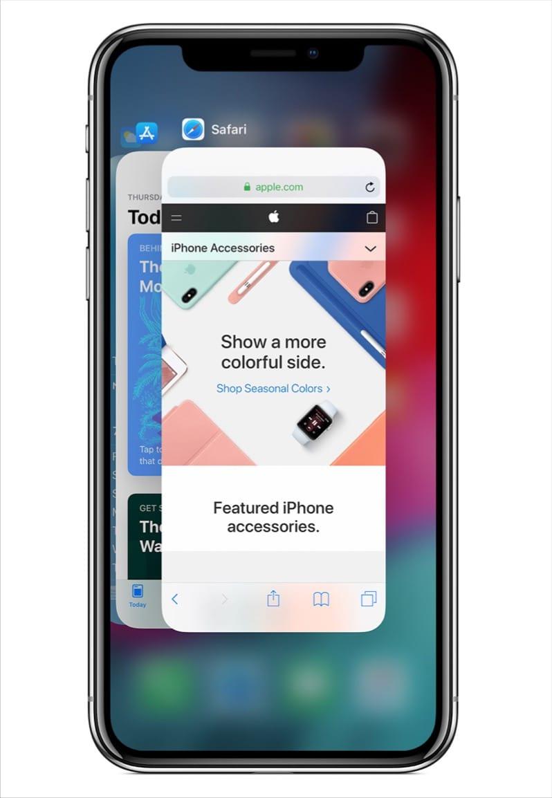 multitasking menu on iphone 11