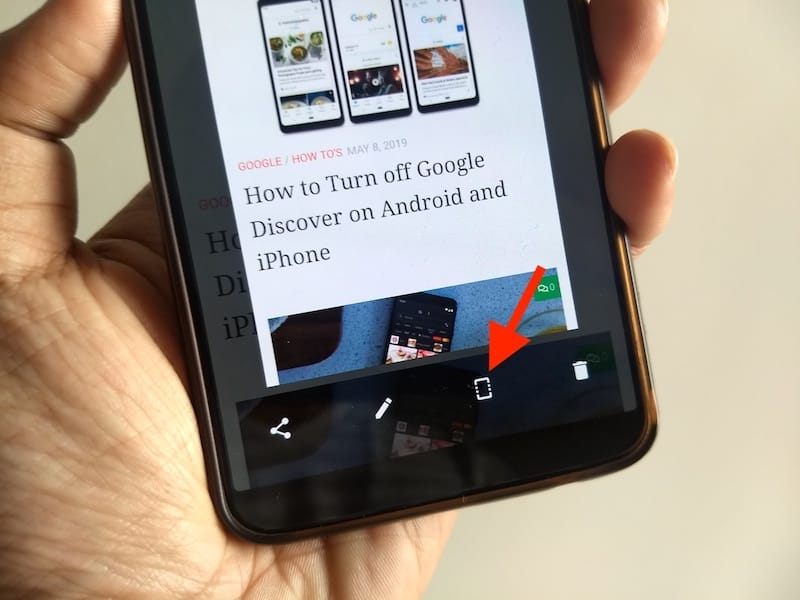 take scrolling screenshot in oneplus
