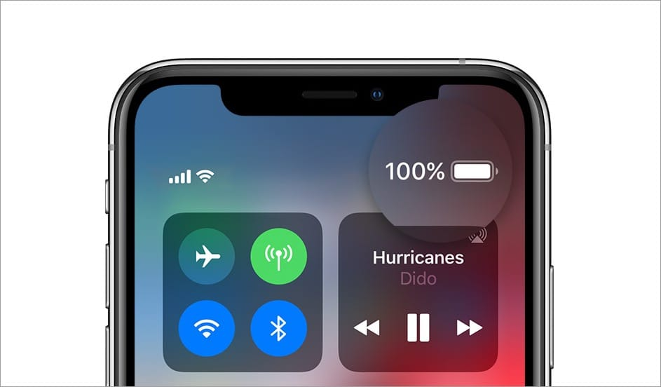 how to see battery percentage on iphone 11 pro max