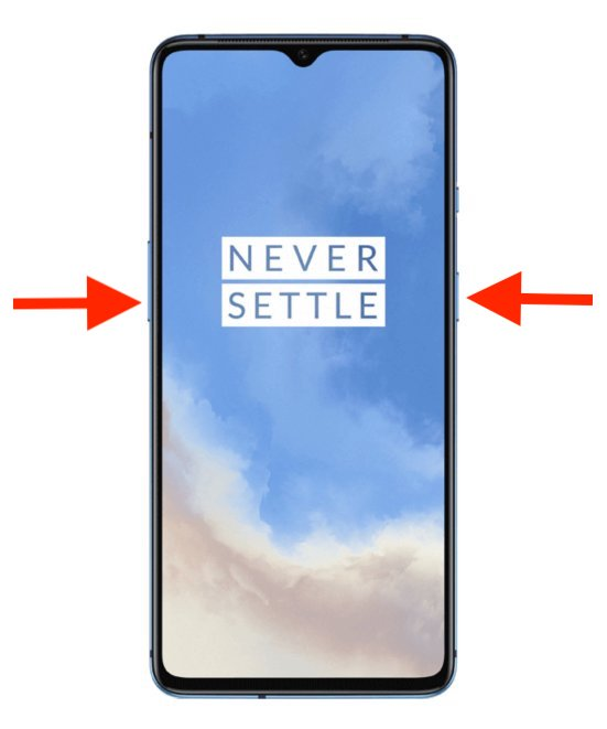 how to take screenshot on oneplus 7T