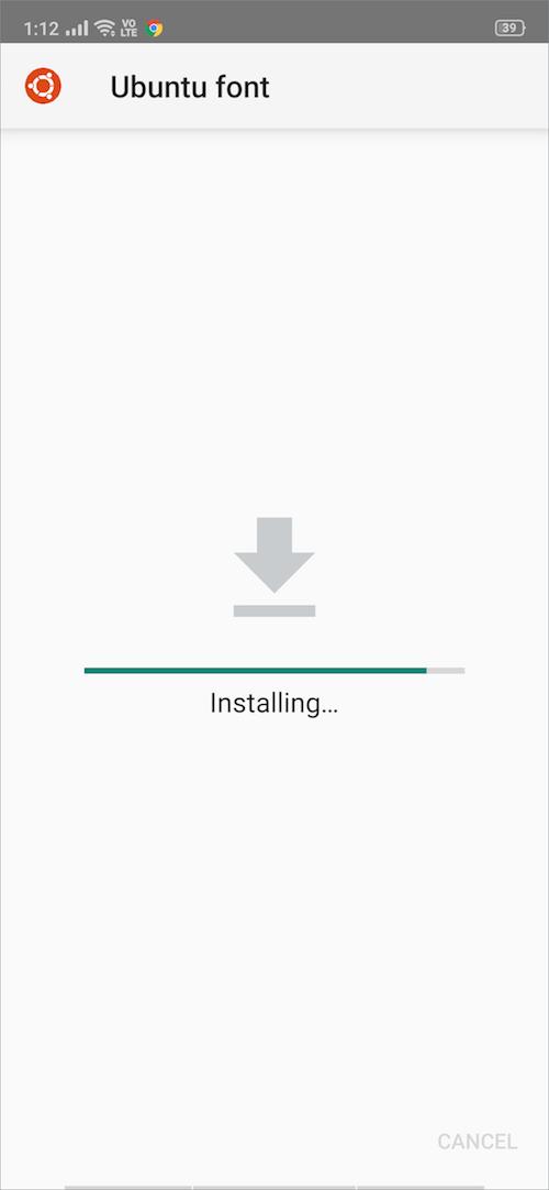 font installing