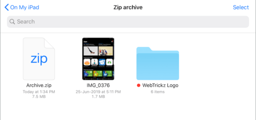 zip archive on iphone ipad