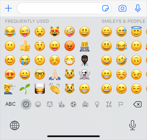 hide memoji stickers from frequently used in ios 13