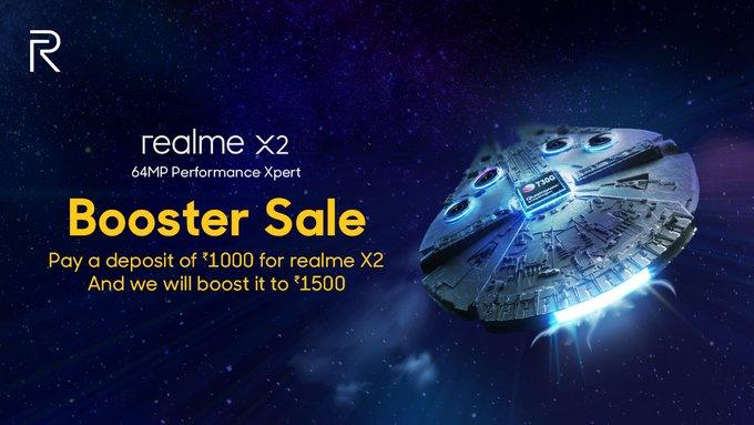 realme x2 booster sale
