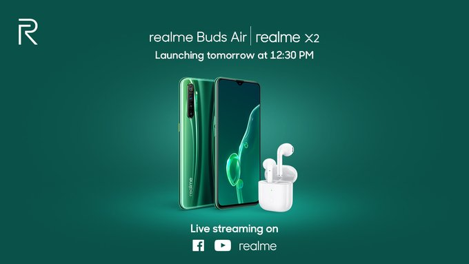 realme x2 and realme buds air launch teaser