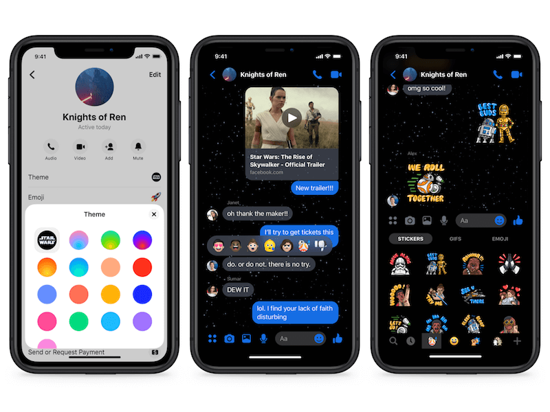 enable star wars theme in messenger