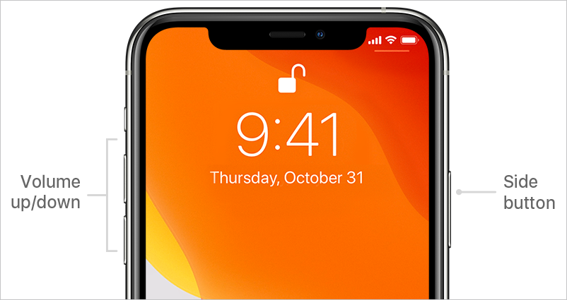 side button on iphone 11