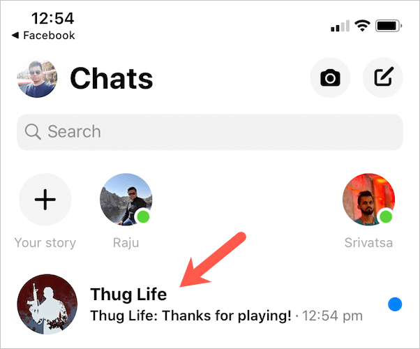 thug life messages in messenger