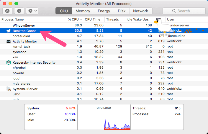activity monitor on mac os