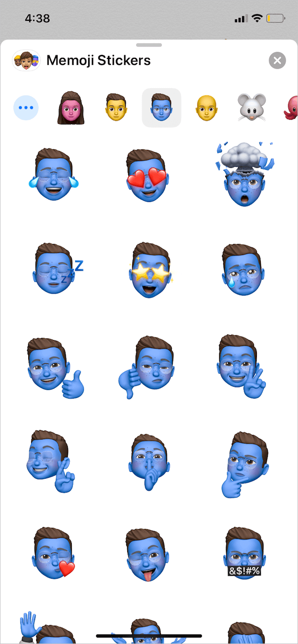 view all the memoji stickers