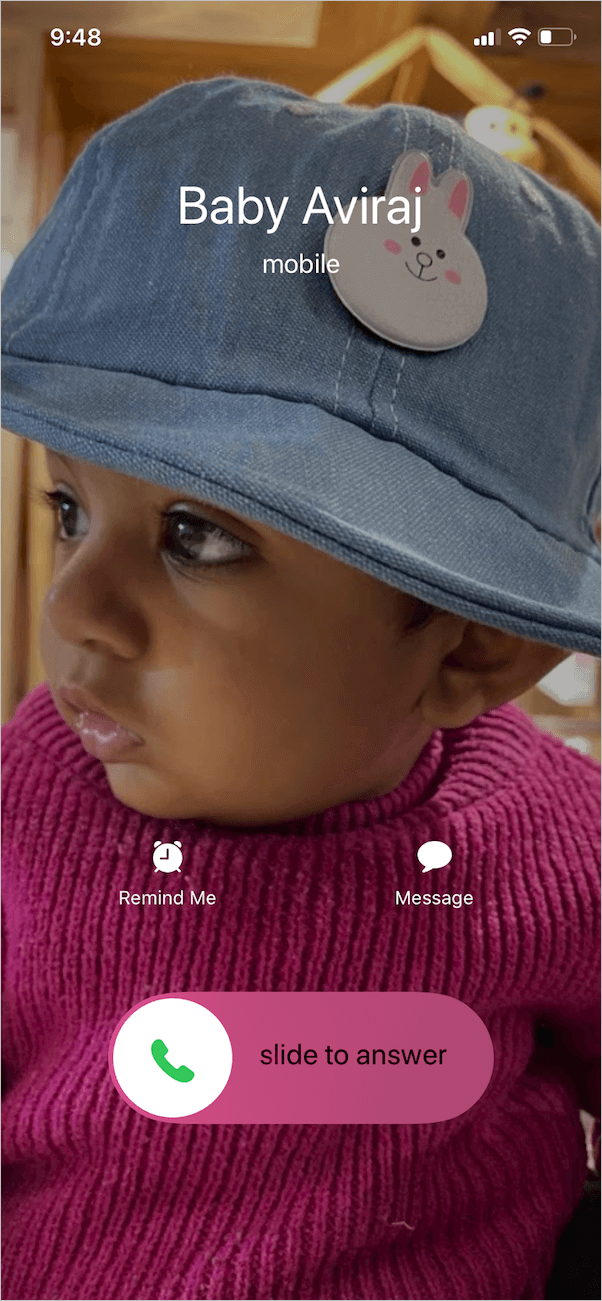 get full screen contact photo in ios 13