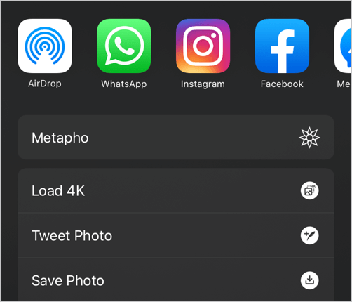 load 4k option on twitter for iphone