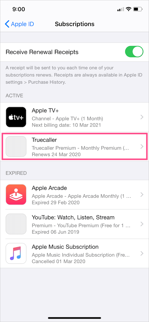 manage subscriptions on iphone