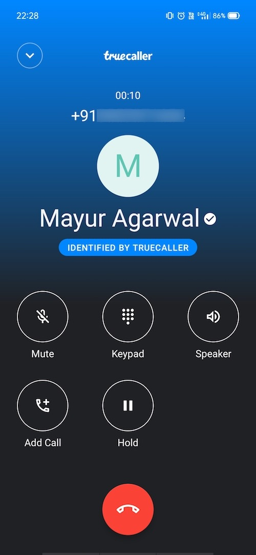 truecaller not showing call recording option