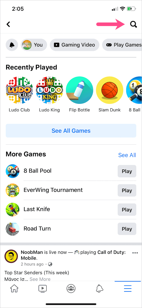 instant games on facebook