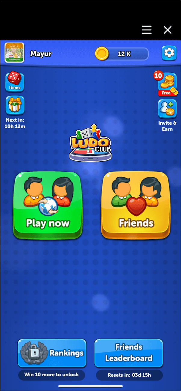 gameplay modes in ludo club game