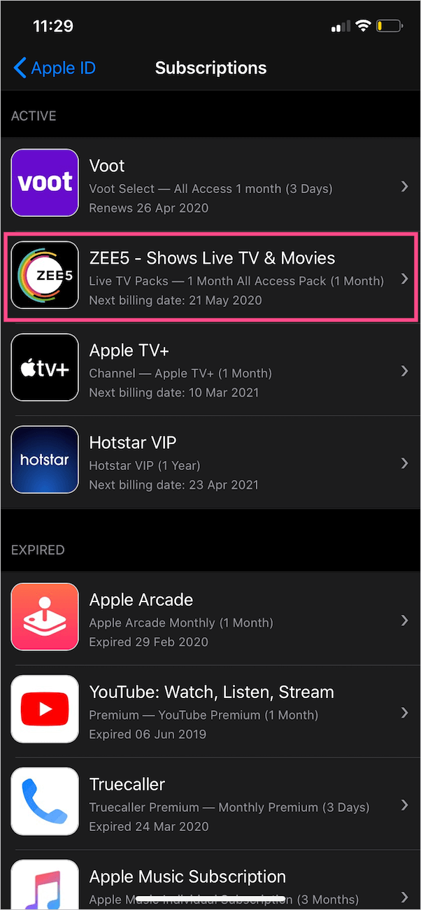 manage ios subscriptions