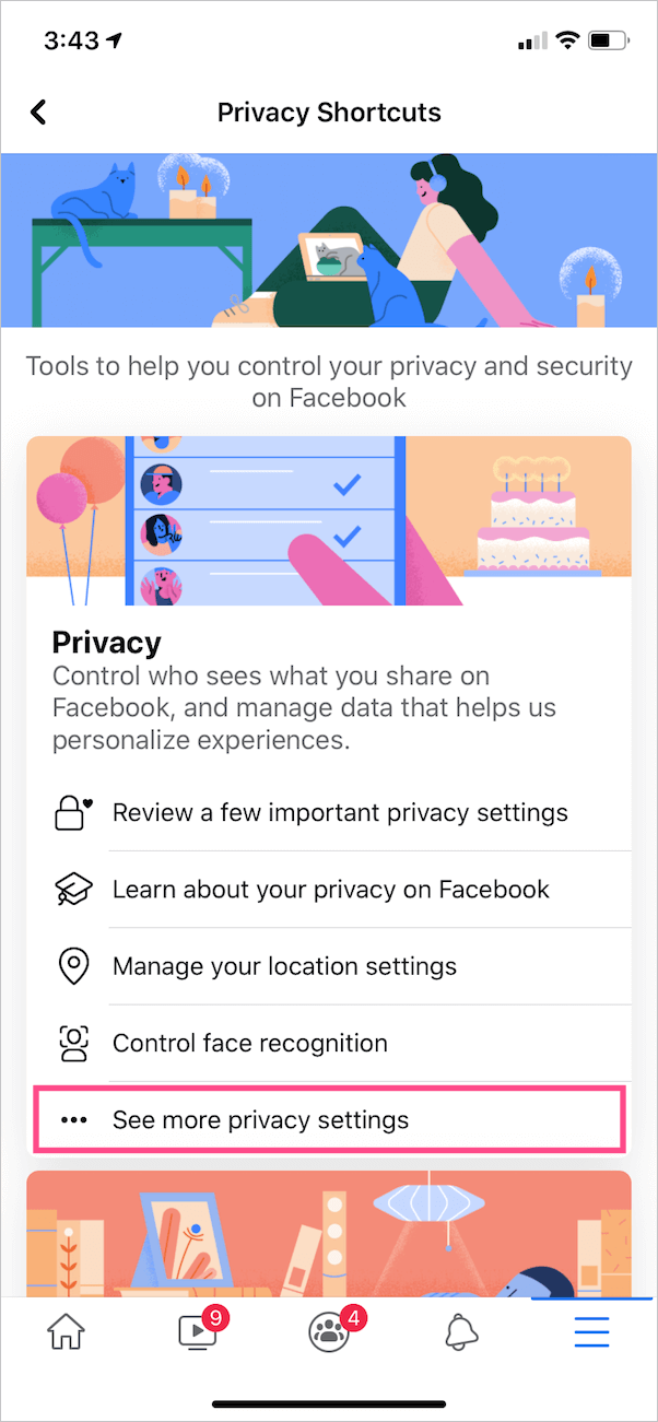 change privacy settings in facebook on mobile