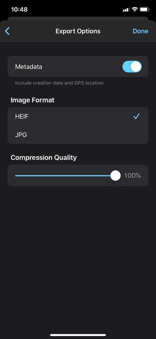 frame grabber settings