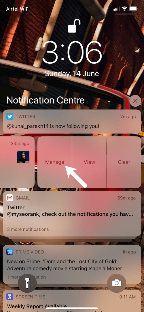 manage notifications in ios 13
