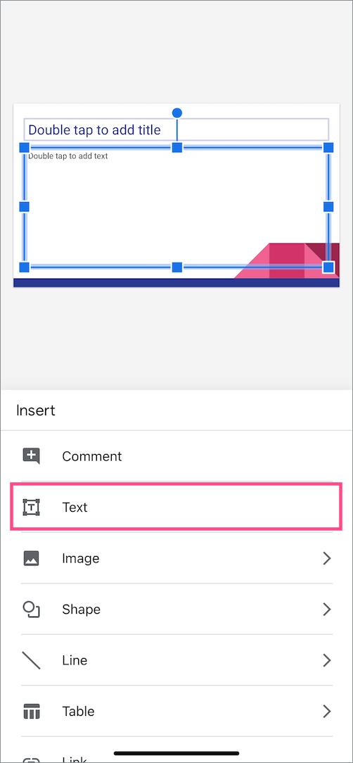 insert text into google slide