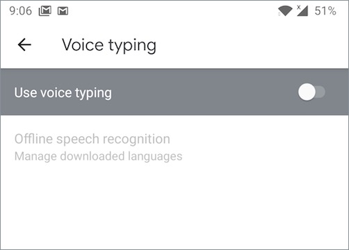 how to disable voice typing in gboard