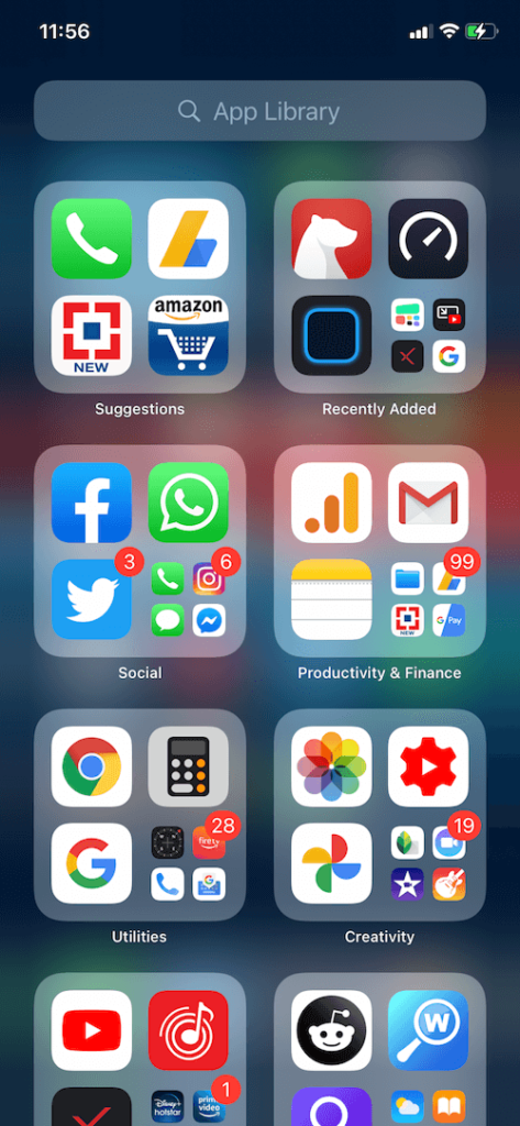 how to disable the application library in ios