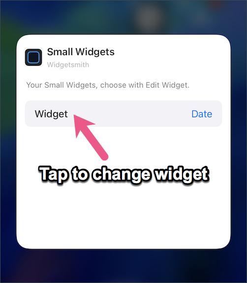 change widgetsmith widget in ios 14