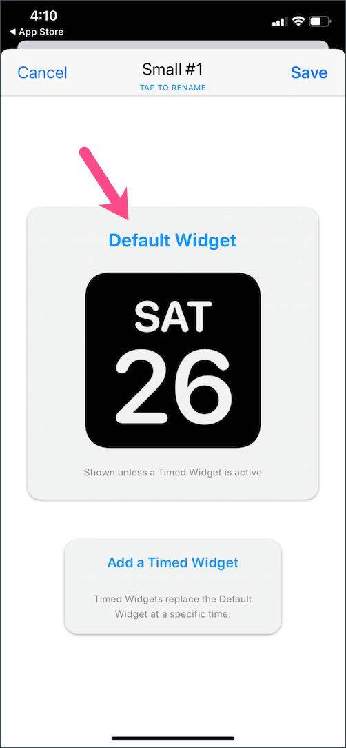 default widgetsmith widget