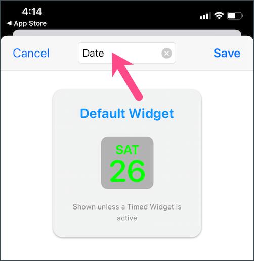 rename widgetsmith widget