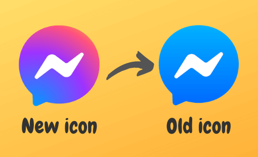 how to get back old messenger icon