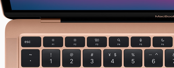 Spotlight, Dictation, and Do Not Disturb functions keys on new m1 macbook air