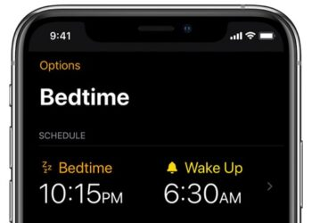 Bedtime in clock app on iphone