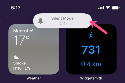 silent mode off notification on iPhone iOS 14