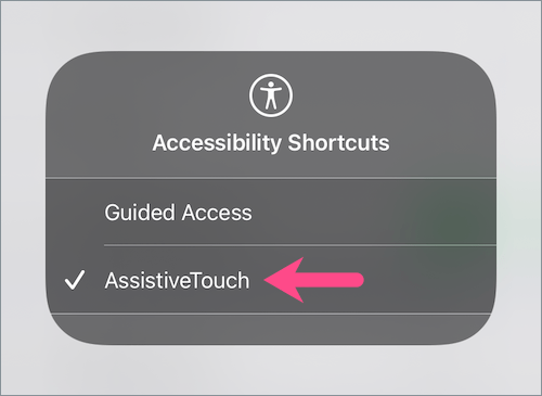 how to get rid of the floating button on iPhone