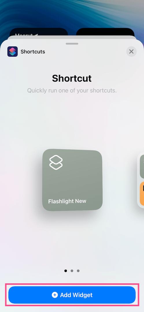 add flashlight widget in iOS 14