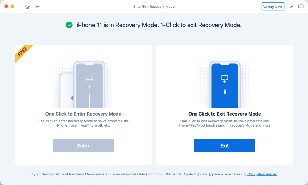 exit recovery mode on iPhone 12