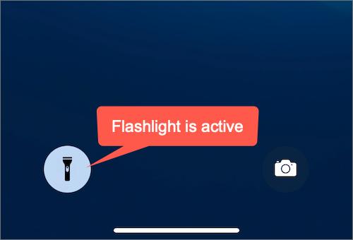 flashlight button on Lock Screen on iPhone 12