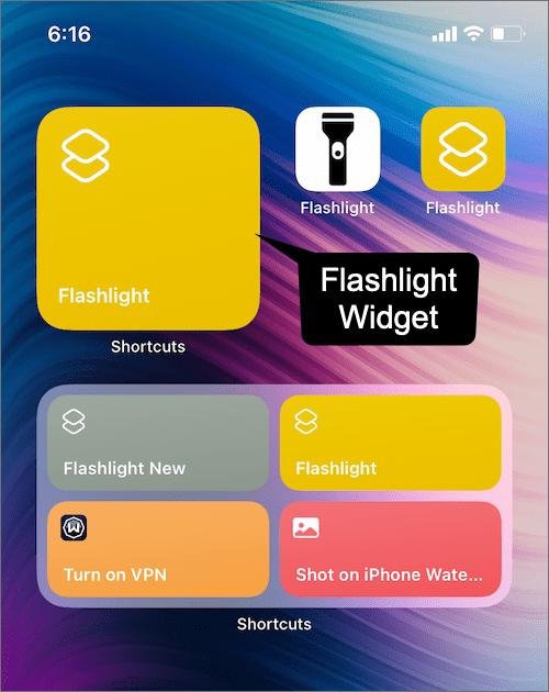 get flashlight widget on iPhone 12