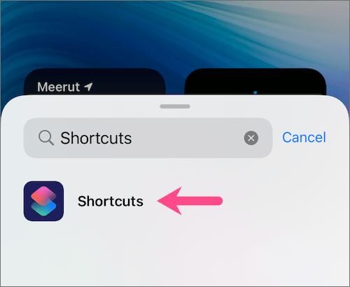 add shortcut widget on iPhone