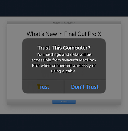 trust this computer prompt on iPhone
