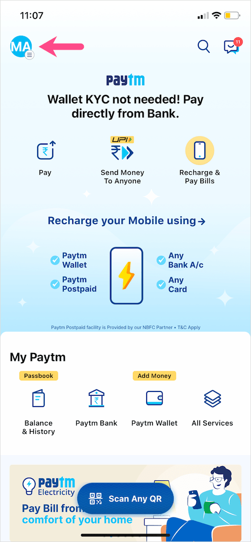 paytm app for iPhone
