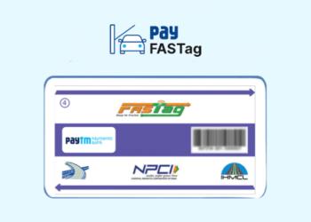 Paytm Fastag sticker