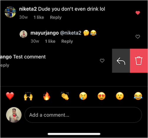can I pin my own comment on instagram