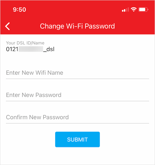 how to change airtel fiber password on iPhone and android phone