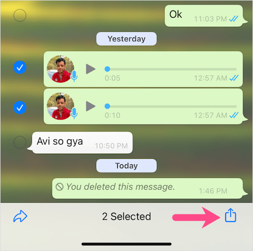 download WhatsApp voice note to iPhone