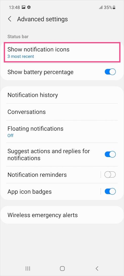 Symbols pof notification How to