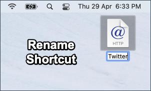 rename shortcut