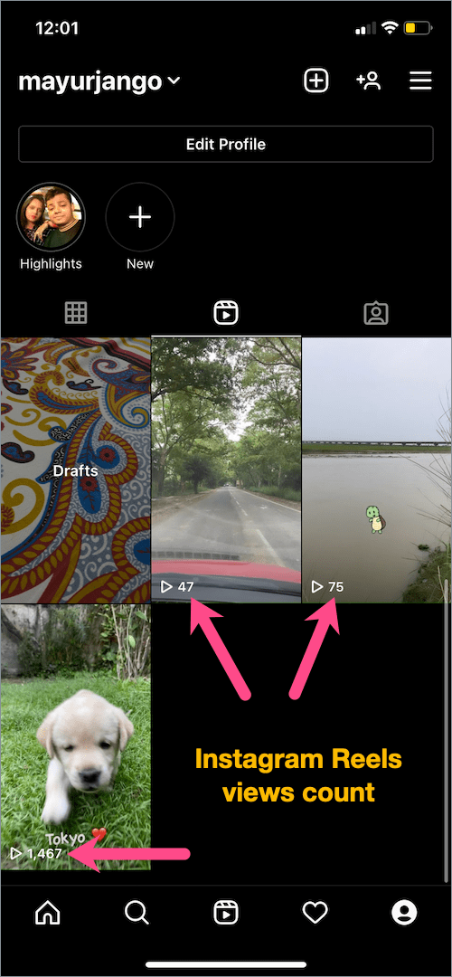 How to check views on Instagram reels